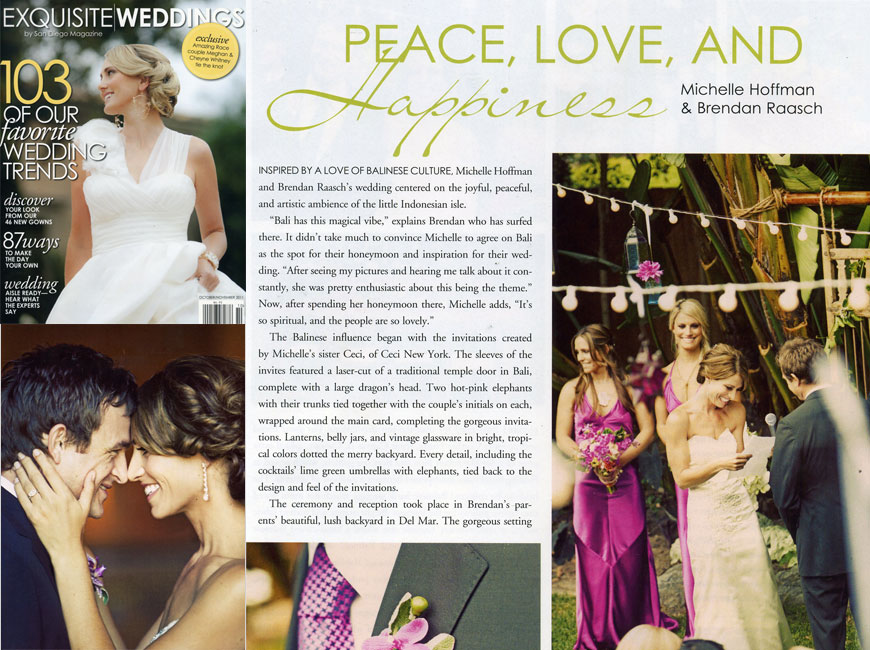 Exquisite Weddings - October/November 2011 - Press - Ceci New York