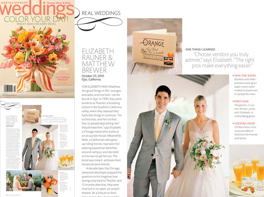 Martha Stewart Weddings - Spring 2012 - Press - Ceci New York