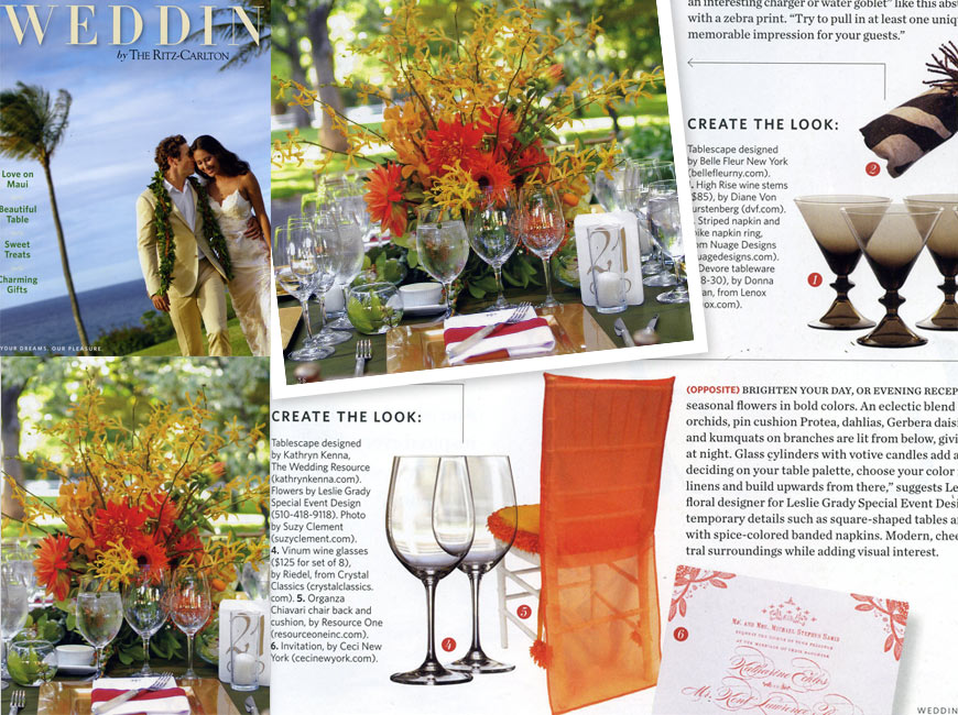 Weddings by The Ritz-Carlton - January - June 2012 - Press - Ceci New York