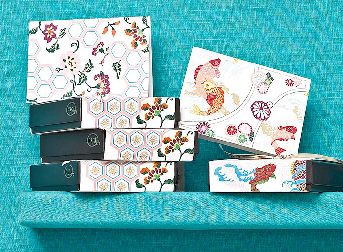 Zen Garden -  Kimono -  Fine Stationery - Shop Ceci - Ceci New York