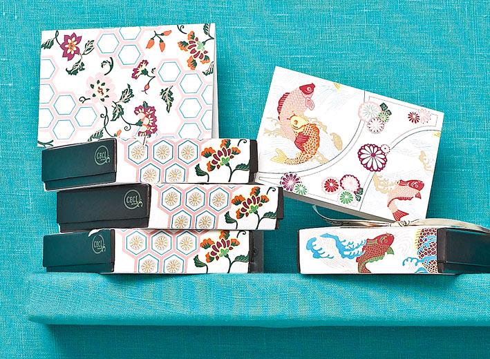 Zen Garden -  Kimono -  Fine Stationery - Shop Ceci - Ceci New York
