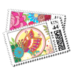 Lotus Butterfly - Postage Stamps - Kimono - Fine Stationery - Shop Ceci - Ceci New York
