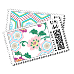 Zen Garden - Postage Stamps - Kimono - Fine Stationery - Shop Ceci - Ceci New York