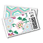 Zen Garden - Postage Stamps - Kimono - Fine Stationery - Shop Ceci - Ceci New York