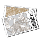 Plumage - Postage Stamps - Metallic - Fine Stationery - Shop Ceci - Ceci New York
