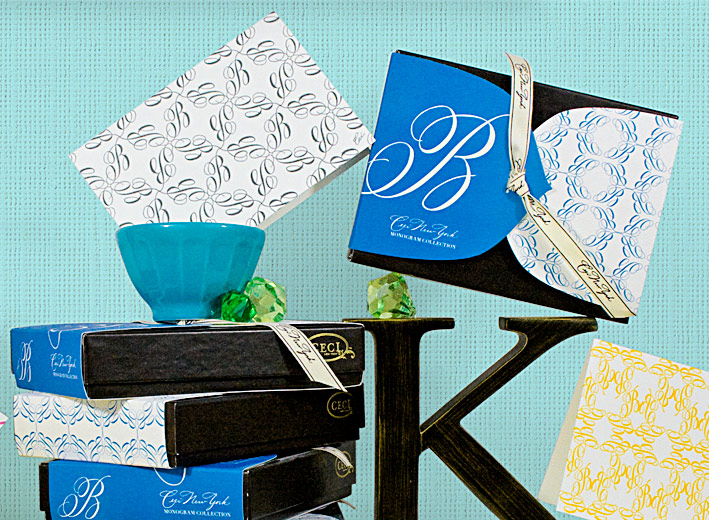 B -  Monogram -  Fine Stationery - Shop Ceci - Ceci New York