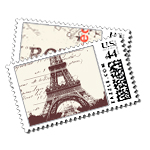 Paris/Rome - Postage Stamps - Passport - Fine Stationery - Shop Ceci - Ceci New York