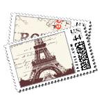 Paris/Rome - Postage Stamps - Passport - Fine Stationery - Shop Ceci - Ceci New York