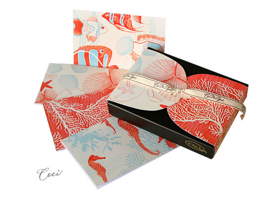 Aquamarine - Resort - Fine Stationery - Shop Ceci - Ceci New York