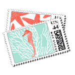 Aquamarine - Postage Stamps - Resort - Fine Stationery - Shop Ceci - Ceci New York