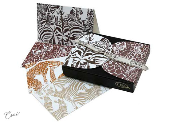 Zuri - Safari - Fine Stationery - Shop Ceci - Ceci New York