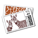 Zuri - Postage Stamps - Safari - Fine Stationery - Shop Ceci - Ceci New York