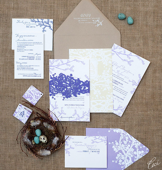 Ashleigh & Shaun - Luxury Wedding Invitations - Botanical - Ceci Couture - Ceci Wedding - Ceci New York