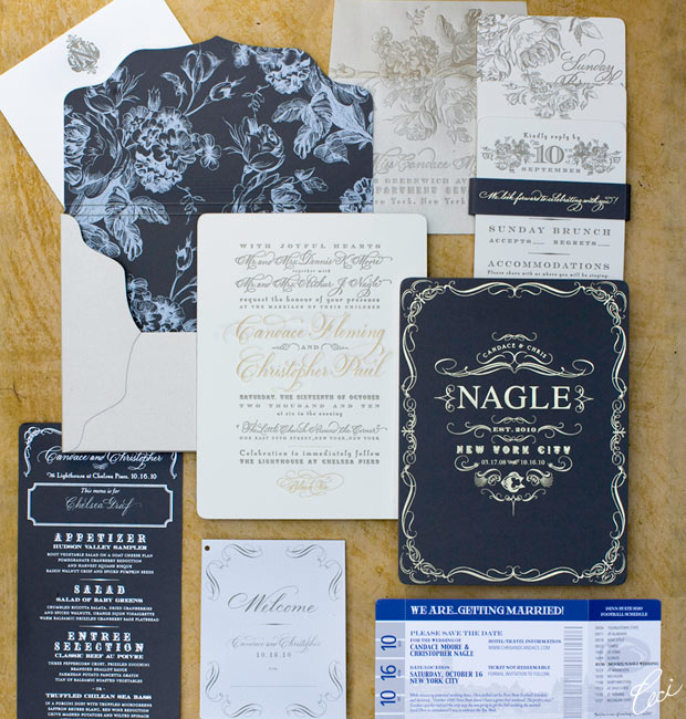 Candace & Chris - Luxury Wedding Invitations - Botanical - Ceci Couture - Ceci Wedding - Ceci New York