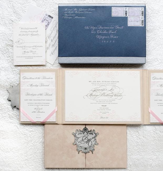 Luxury Wedding Invitations By Ceci New York: Jennifer & Michael :: Ceci Botanical Style :: Ceci Couture