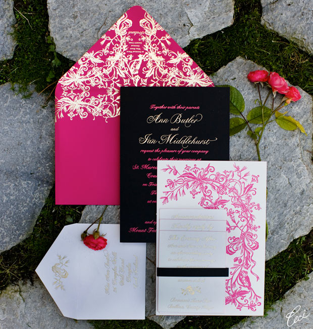 Ann &amp; Ian - Luxury Wedding Invitations - Classic - Ceci Couture - Ceci Wedding - Ceci New York