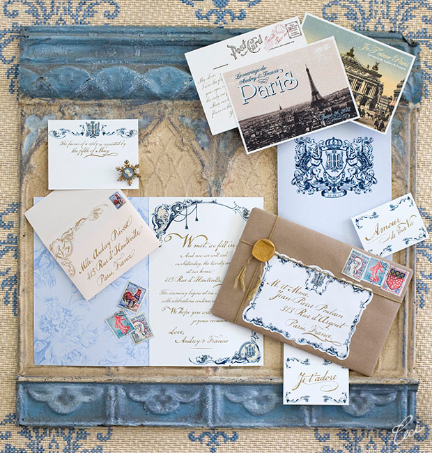 Luxury Wedding Invitations By Ceci New York: Audrey & Francis :: Ceci Classic Style :: Ceci Couture