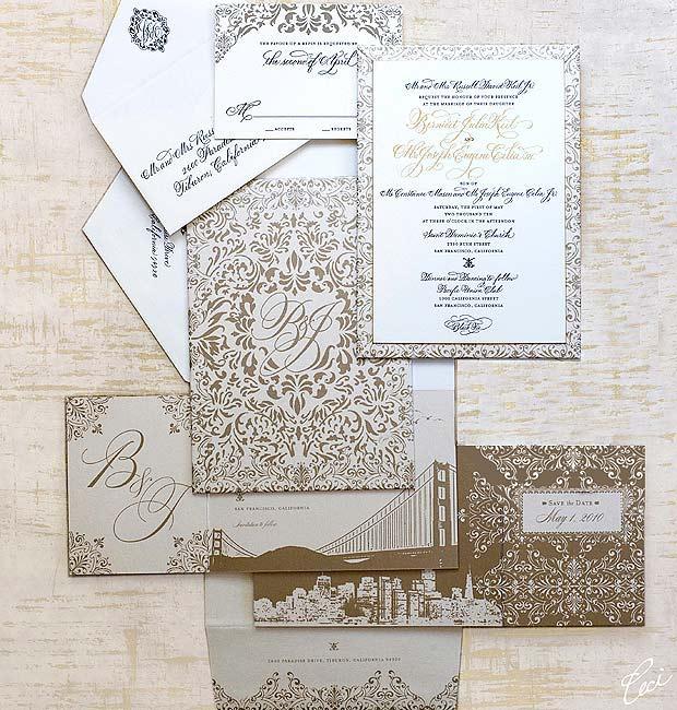 Luxury Wedding Invitations By Ceci New York: Bernidet & Joseph :: Ceci Classic Style :: Ceci Couture
