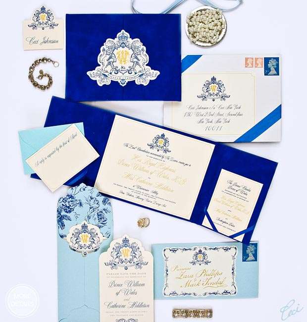 Catherine & William - Luxury Wedding Invitations - Classic - Ceci Couture - Ceci Wedding - Ceci New York