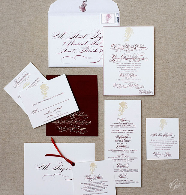 Deanna & Gavin - Luxury Wedding Invitations - Classic - Ceci Couture - Ceci Wedding - Ceci New York