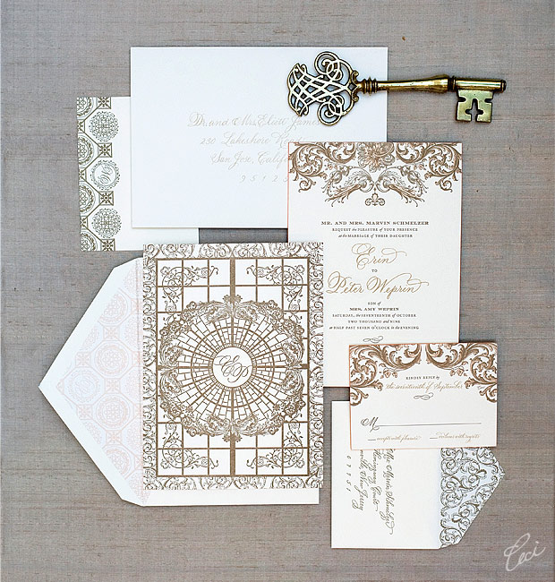 Erin & Peter - Luxury Wedding Invitations - Classic - Ceci Couture - Ceci Wedding - Ceci New York