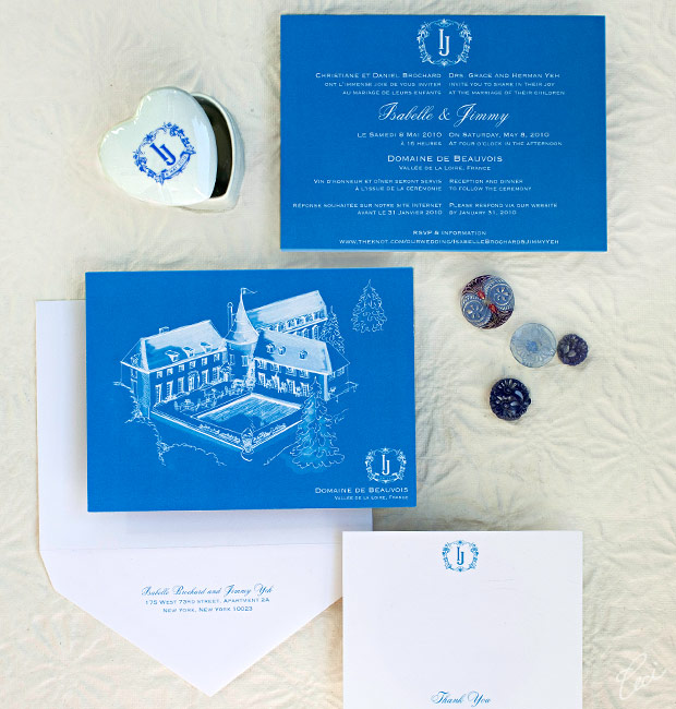 Isabelle &amp; Jimmy - Luxury Wedding Invitations - Classic - Ceci Couture - Ceci Wedding - Ceci New York