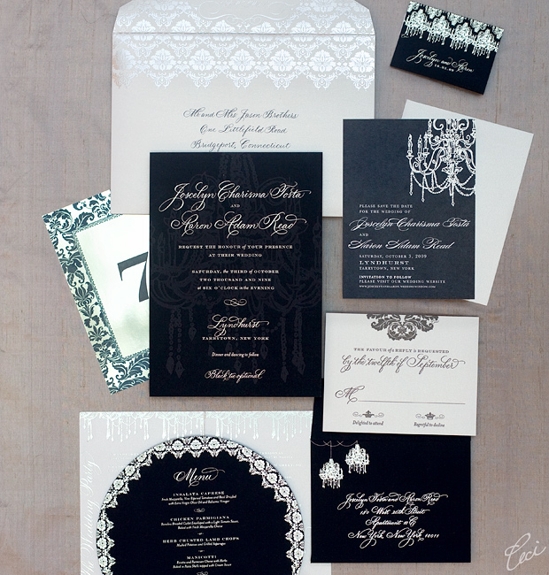 Joscelyn &amp; Aaron - Luxury Wedding Invitations - Classic - Ceci Couture - Ceci Wedding - Ceci New York