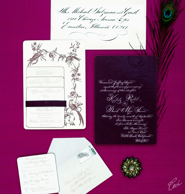 Kimberly & Daniel - Luxury Wedding Invitations - Classic - Ceci Couture - Ceci Wedding - Ceci New York