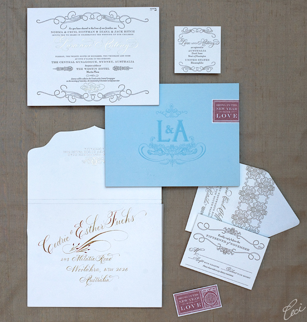 Lara & Antony - Luxury Wedding Invitations - Classic - Ceci Couture - Ceci Wedding - Ceci New York
