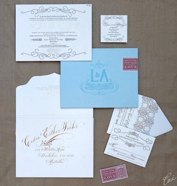 Lara & Antony - Luxury Wedding Invitations - Classic - Ceci Couture - Ceci Wedding - Ceci New York