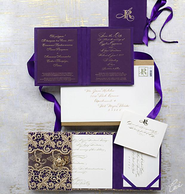 Angelina & Ryan - Luxury Wedding Invitations - Daring - Ceci Couture - Ceci Wedding - Ceci New York
