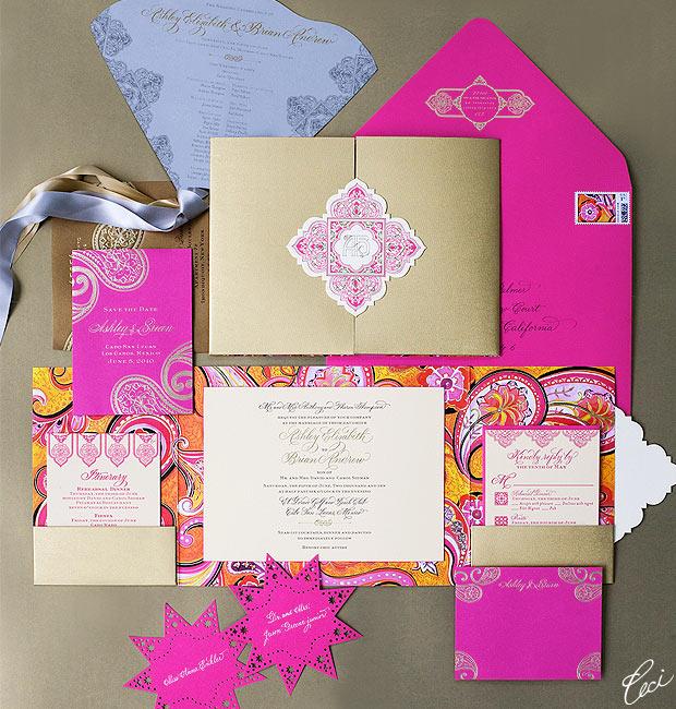 Luxury Wedding Invitations By Ceci New York: Ashley & Brian :: Ceci Daring Style :: Ceci Couture