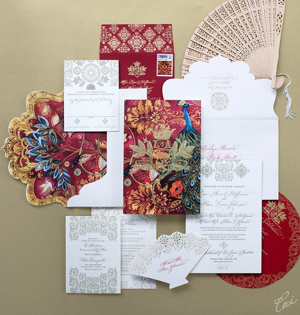 Ceci &amp; Alan - Luxury Wedding Invitations - Daring - Ceci Couture - Ceci Wedding - Ceci New York