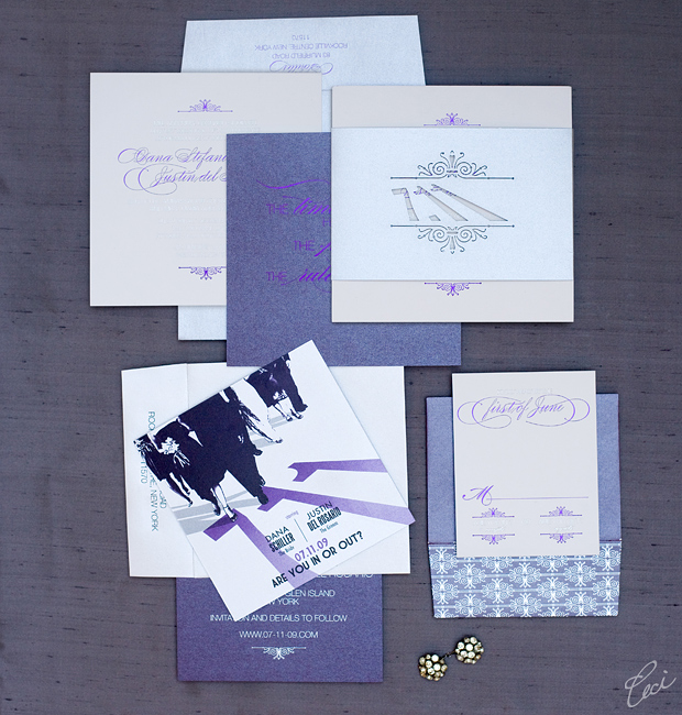 Dana & Justin - Luxury Wedding Invitations - Daring - Ceci Couture - Ceci Wedding - Ceci New York