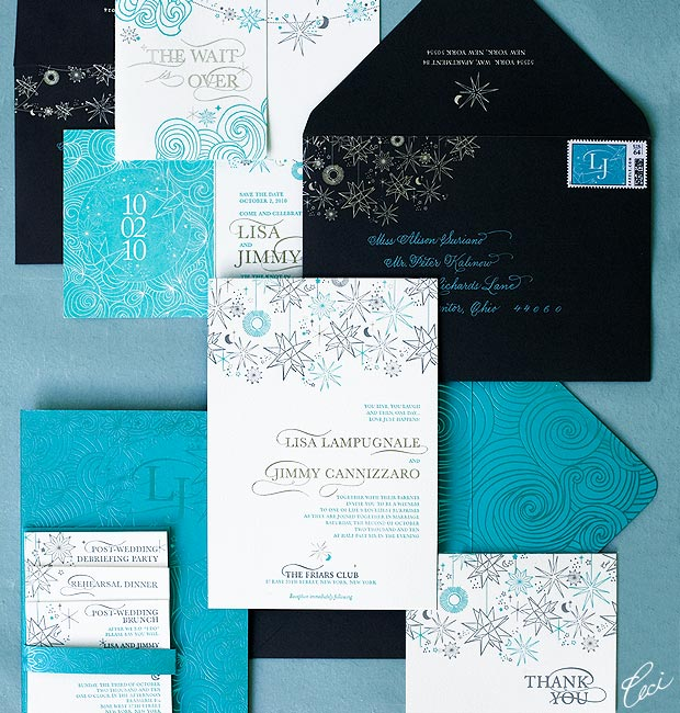 Lisa & Jimmy - Luxury Wedding Invitations - Daring - Ceci Couture - Ceci Wedding - Ceci New York