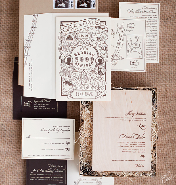 Lori &amp; David - Luxury Wedding Invitations - Daring - Ceci Couture - Ceci Wedding - Ceci New York