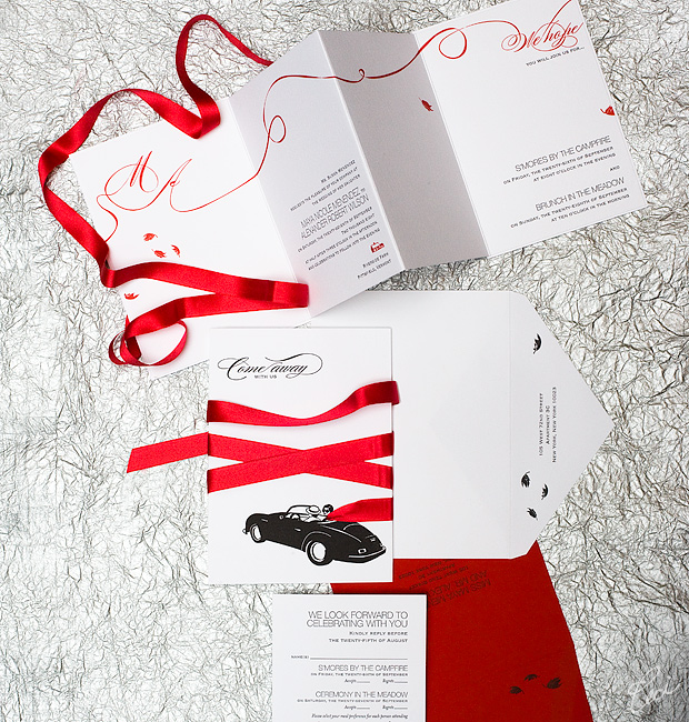Maya & Alex - Luxury Wedding Invitations - Daring - Ceci Couture - Ceci Wedding - Ceci New York