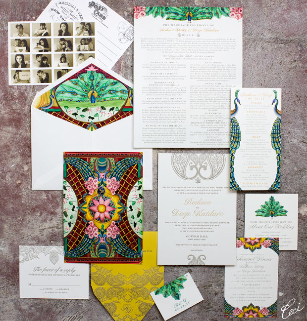 Reshma &amp; Deep - Luxury Wedding Invitations - Daring - Ceci Couture - Ceci Wedding - Ceci New York