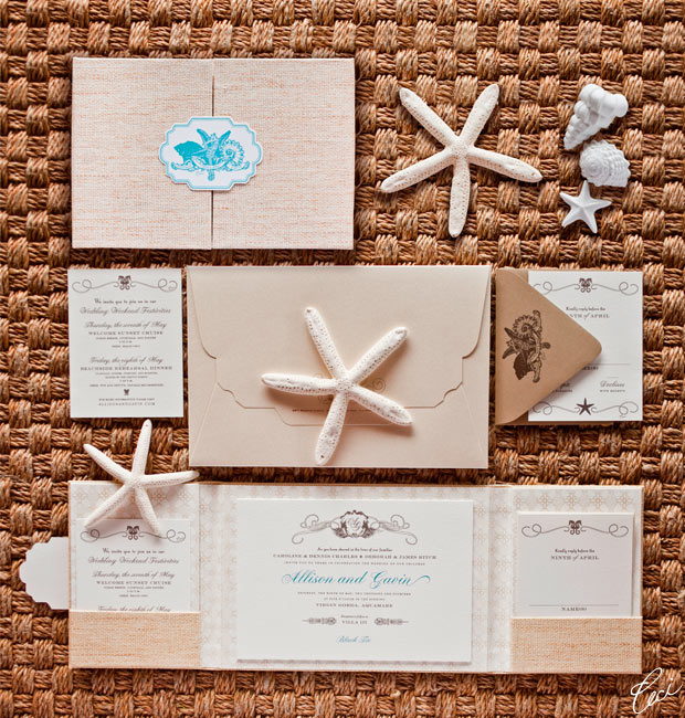 Allison &amp; Gavin - Luxury Wedding Invitations - Destination - Ceci Couture - Ceci Wedding - Ceci New York