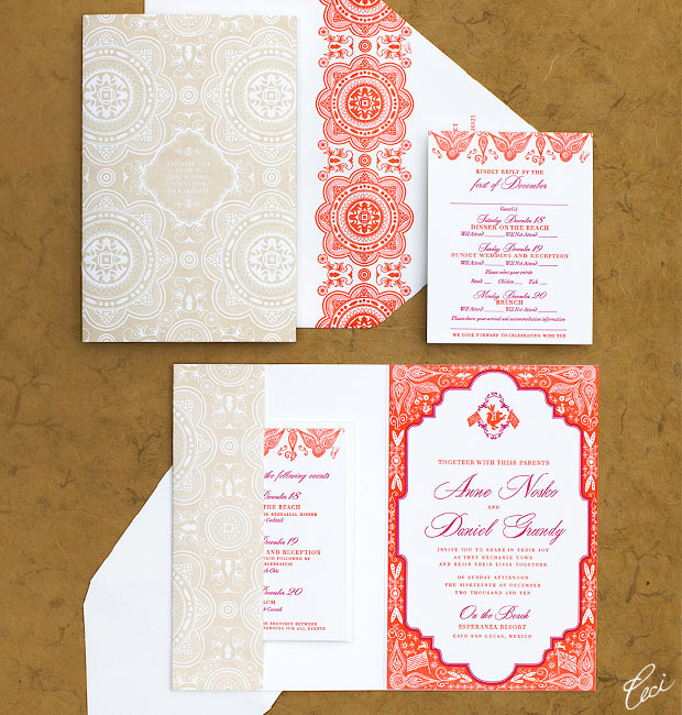Anne & Daniel - Luxury Wedding Invitations - Destination - Ceci Couture - Ceci Wedding - Ceci New York