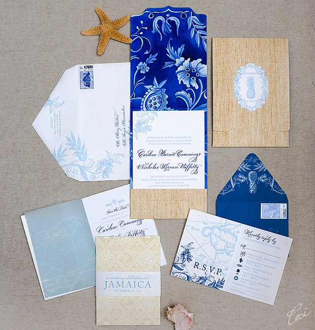 Caroline & Nicholas - Luxury Wedding Invitations - Destination - Ceci Couture - Ceci Wedding - Ceci New York
