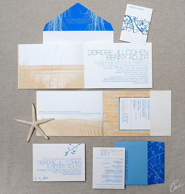 Deirdre &amp; Benny - Luxury Wedding Invitations - Destination - Ceci Couture - Ceci Wedding - Ceci New York