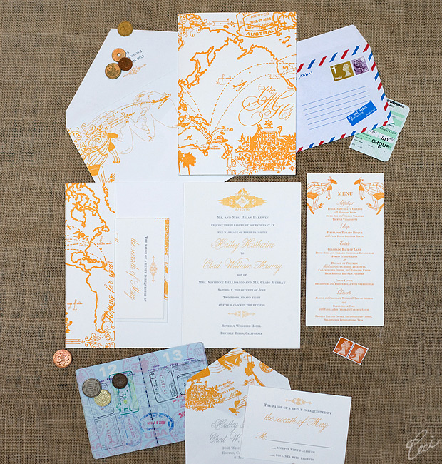 Hailey &amp; Chad - Luxury Wedding Invitations - Destination - Ceci Couture - Ceci Wedding - Ceci New York