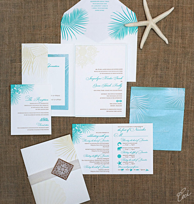 Jacquelyne & Owen - Luxury Wedding Invitations - Destination - Ceci Couture - Ceci Wedding - Ceci New York