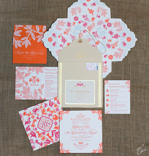 Katharine &amp; Kent - Luxury Wedding Invitations - Destination - Ceci Couture - Ceci Wedding - Ceci New York