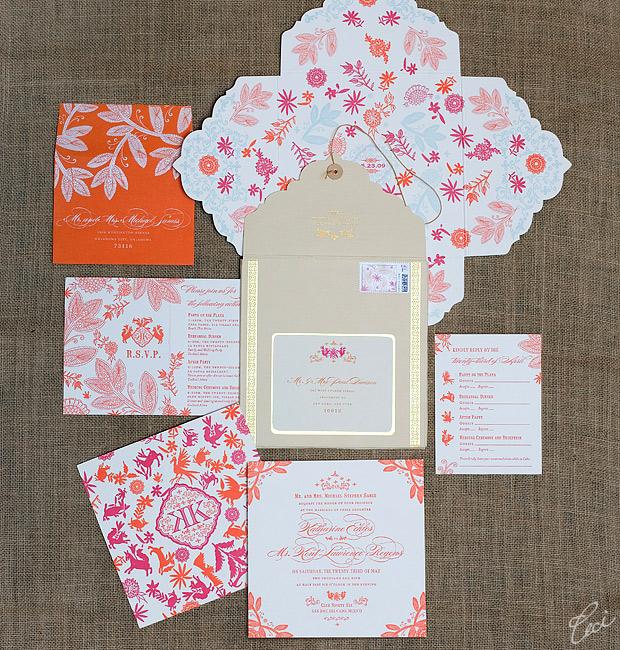 Katharine & Kent - Luxury Wedding Invitations - Destination - Ceci Couture - Ceci Wedding - Ceci New York