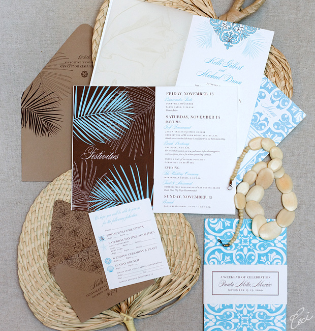 Kelli &amp; Michael - Luxury Wedding Invitations - Destination - Ceci Couture - Ceci Wedding - Ceci New York