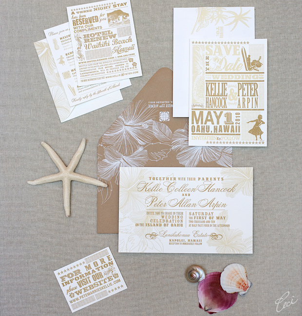 Kellie & Peter - Luxury Wedding Invitations - Destination - Ceci Couture - Ceci Wedding - Ceci New York
