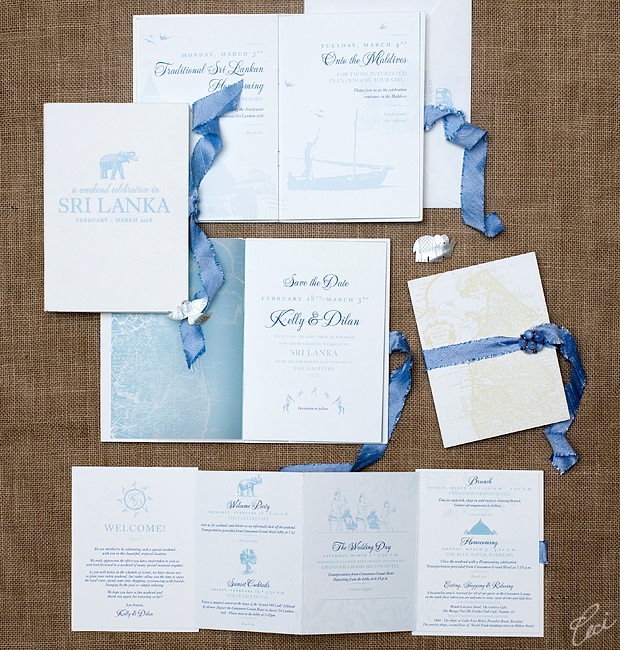 Kelly &amp; Dilan - Luxury Wedding Invitations - Destination - Ceci Couture - Ceci Wedding - Ceci New York
