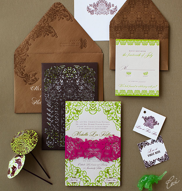 Michelle &amp; Brendan - Luxury Wedding Invitations - Destination - Ceci Couture - Ceci Wedding - Ceci New York